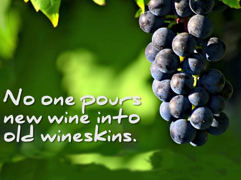 Anggur Baru Dan Kantong Anggur Tua Sesawi Net