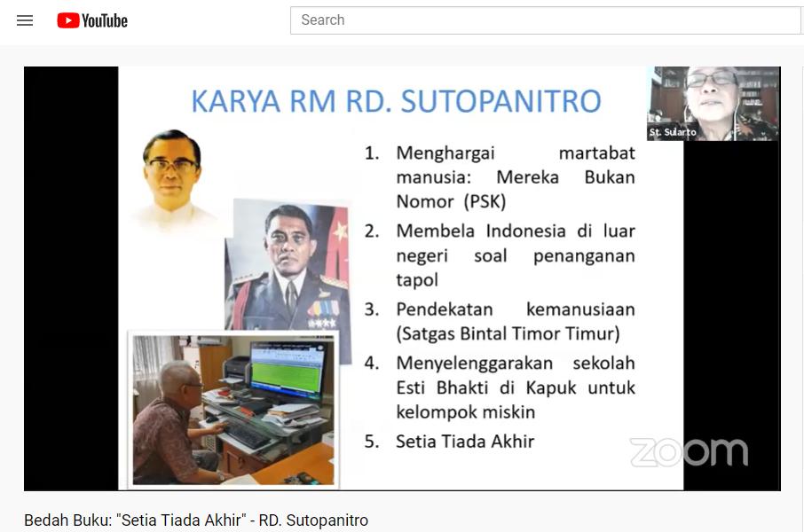 Paparan St. Sularto tentang Romo Suto. (Royani Lim)