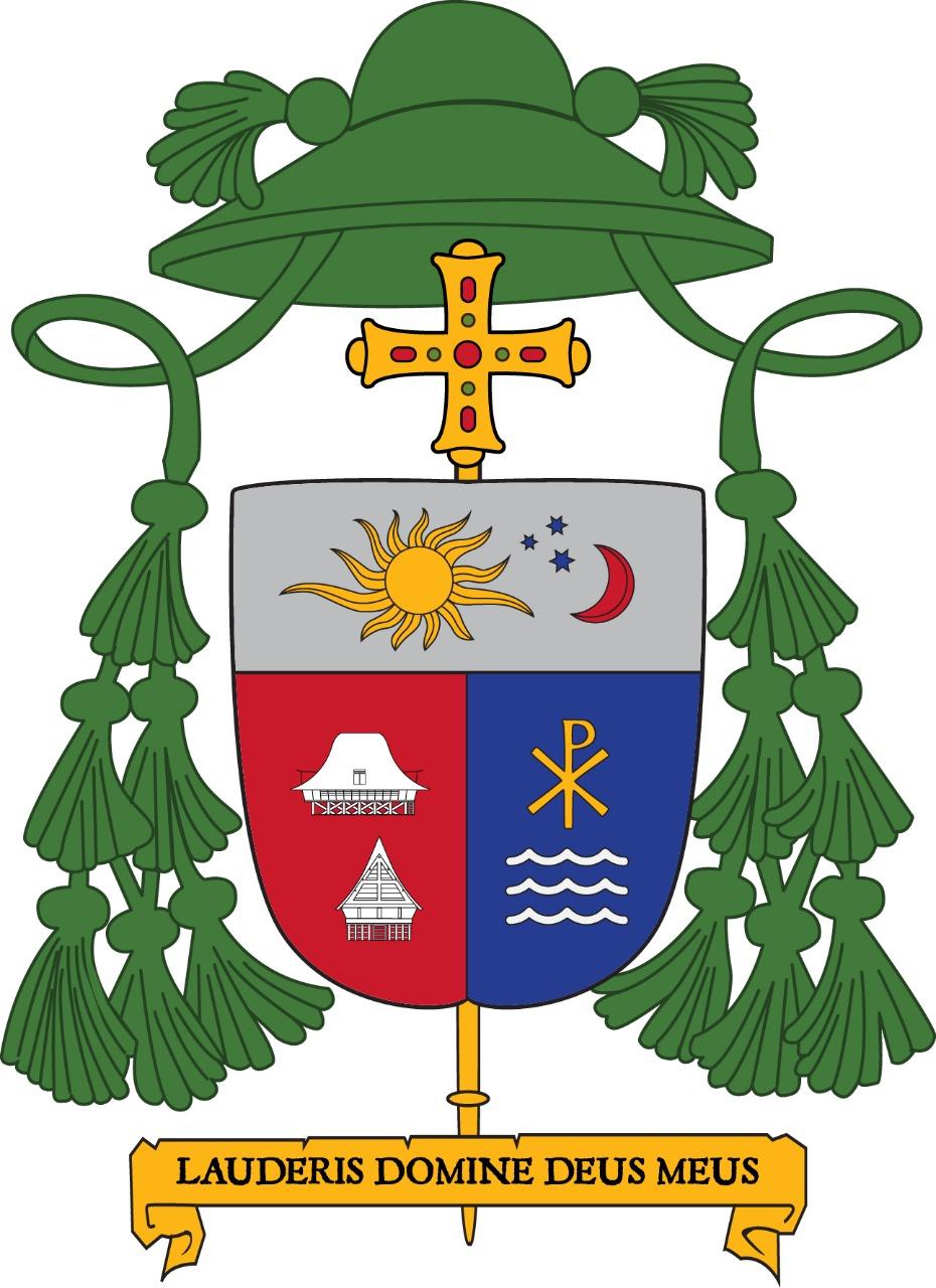 Motto Pastoral dan Lambang Episkopal Uskup Keuskupan Sibolga Mgr. Fransiskus Tuaman Sasfo Sinaga | SESAWI.NET
